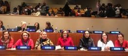 Dep Dâmina Pereira durante evento na ONU